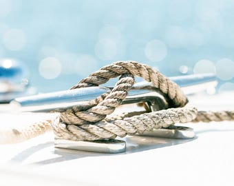 Boat Rope on Cleat Hitch Print