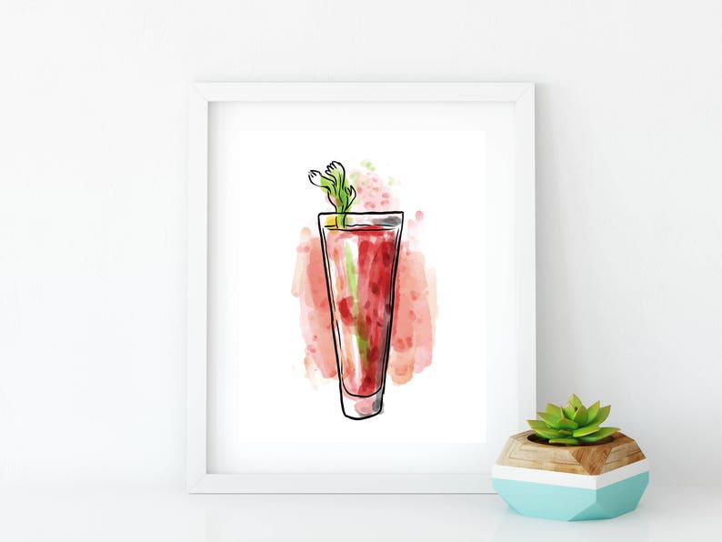DIGITAL DOWNLOAD Bloody Mary Bar Sign Restaurant Wall Art image 0