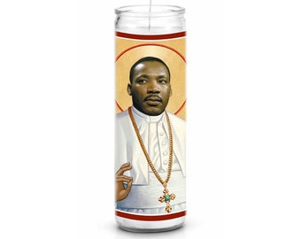 Martin Luther King Jr MLK Saint Celebrity Prayer Candle