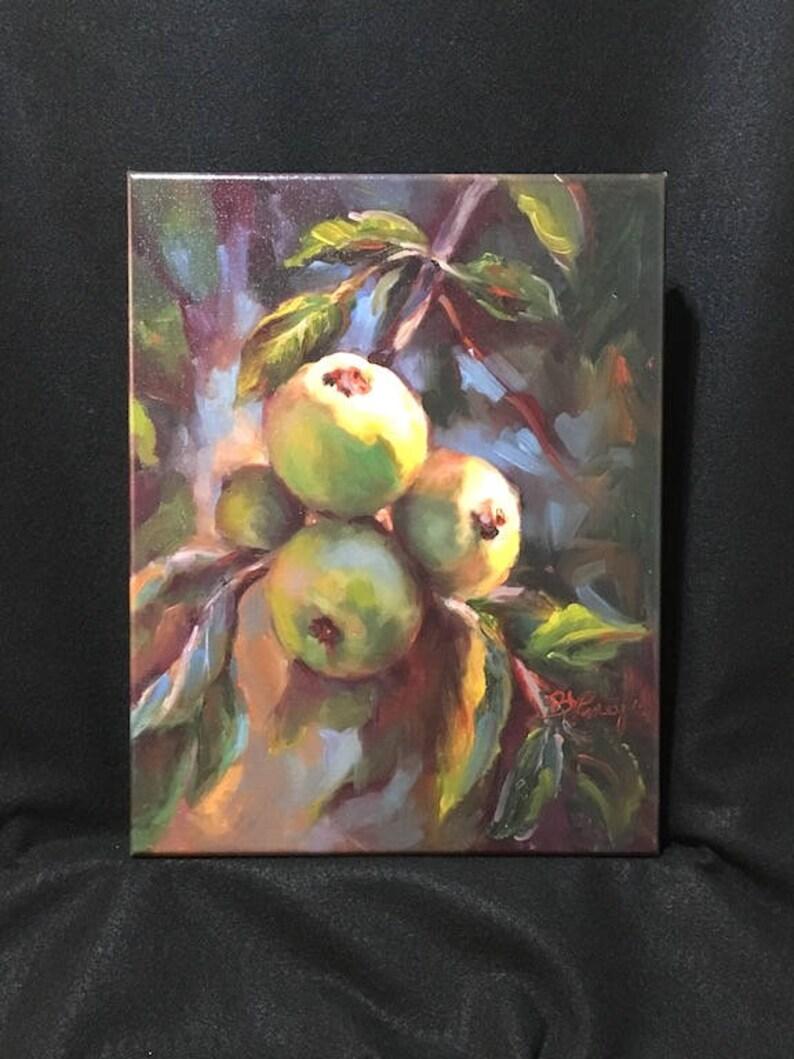 Kitchen decor, apples, fruit print, size 11\
