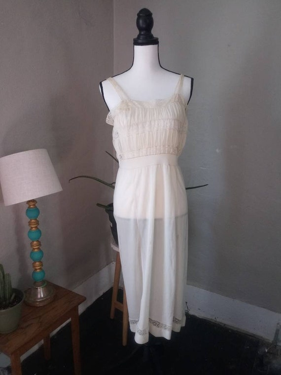 Late 1940's Lace Slip