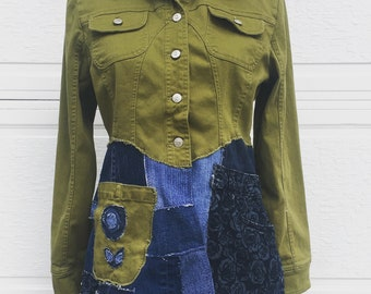 3c531ee2a69 Upcycled womens jacket