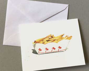 In-N-Out Fries, Blank Card