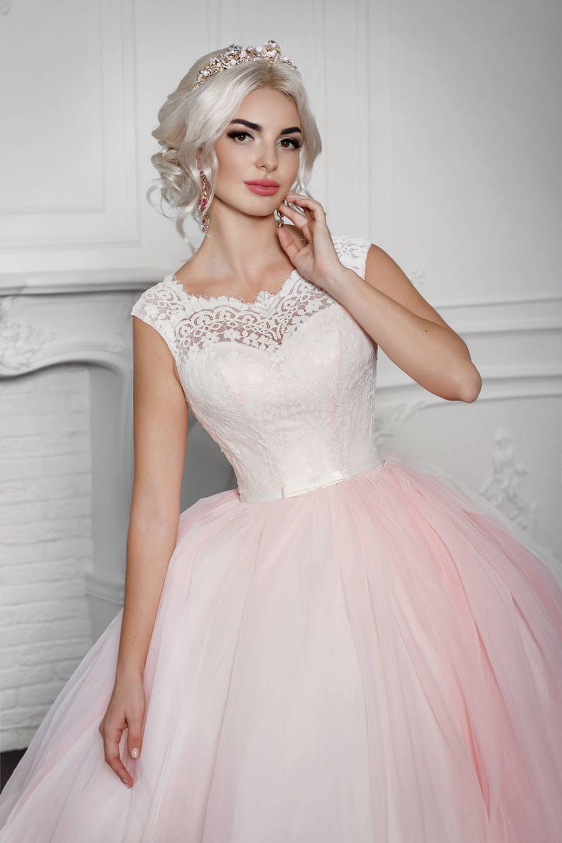 74639e8b2c Anne the Tulle Princess Inspired Wedding Prom Gown Lace Short | Etsy