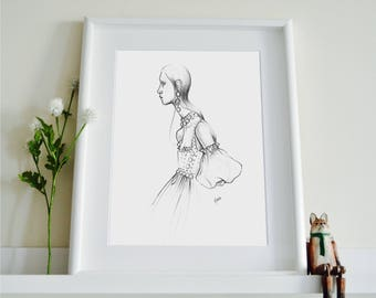 Alexander McQueen SS17 Fashion Illustration