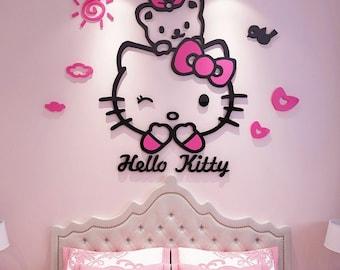Hello Kitty Decal Etsy