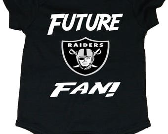 78b35532 Raiders Future Fan With Shield Logo Baby Creepers/Bodysuits