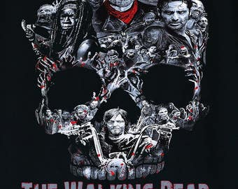 The Walking Dead Walker Skull Negan Rick,Michonne,Daryl,Zombies Men's T-Shirt