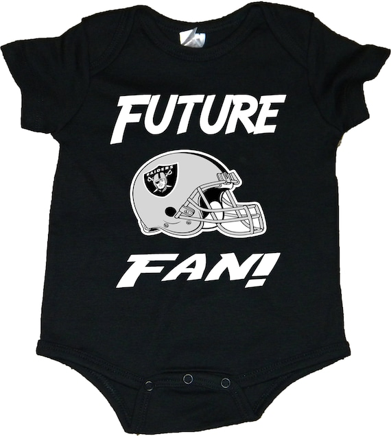 Raiders Future Fan With Helmet Logo Baby Creepers//Bodysuits