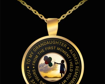 To My Granddaughter - Always Remember...My Heart Yours - Necklace