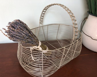 Vintage Egg Basket Wire Basket Egg Basket Vintage Market Basket Apple Basket Garden Basket Antique French Basket Farmhouse Basket