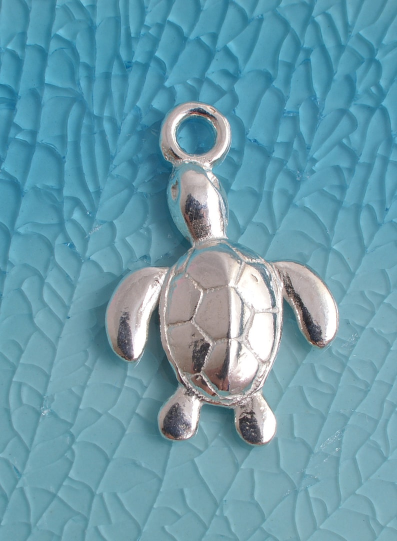 294d180318adf Sterling silver sea turtle charm 925 13mm