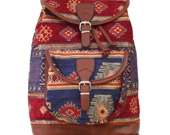 School bag, student bag, college bag, bag for school, bag for college, bag for  wife, blue bag, ethnic bag, vegan bag women ,girls bag