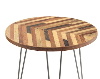 Reclaimed Wood Round Coffee Table Etsy