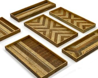 Wood Pattern Catch Tray