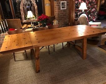 Reclaimed Industrial Turnbuckle Farmhouse Extension Table