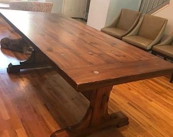 Reclaimed industrial Modern Farmhouse Extension Table