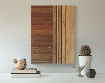 Geometric Wood Wall Art | Modern Pattern Reclaimed Wood