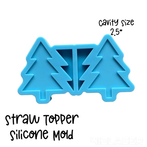 Christmas Tree Straw Topper Silicone Mold