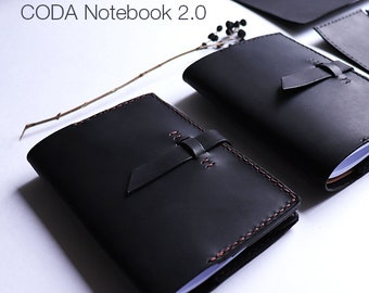 CODA S Notebook 2.0 -  Handmade Refillable Leather Notebook, Sketchbook, Journal, Leather cover, Personalised, Travel journal, Travelbook