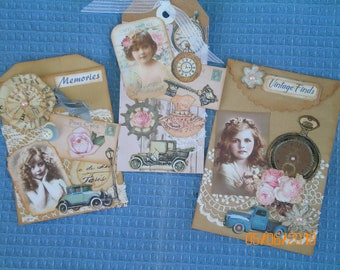 Vintage Themed Paper Bags & Tag