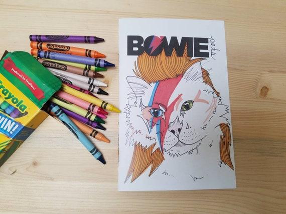 Bowie Pets Bowie Pets Coloring Book David Bowie Coloring Etsy