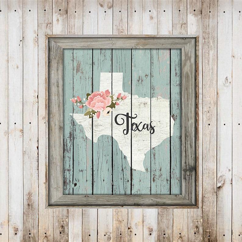 SALE-Farmhouse Barn Wood Texas State With Home Digital | Etsy