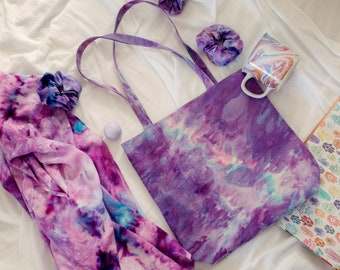 Purple Hand Dyed Tote - Choose your boho print - Must Have Tote Bag