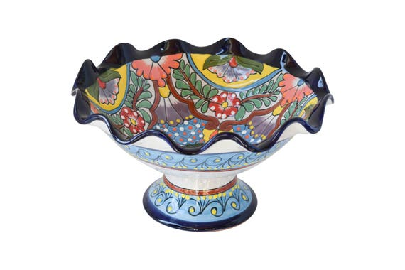 Stupendous Fruit Bowl Ceramic Talavera Bowl Home Kitchen Patio Garden Decor Machost Co Dining Chair Design Ideas Machostcouk
