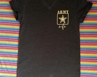 ae72cea559ea65 Personalized Army Wife Shirt. Army Wife. Army Mom. Army Girlfriend. Army  Sister. Army Fiance. Army Proud.