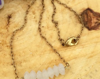 Quartz Bar Necklace