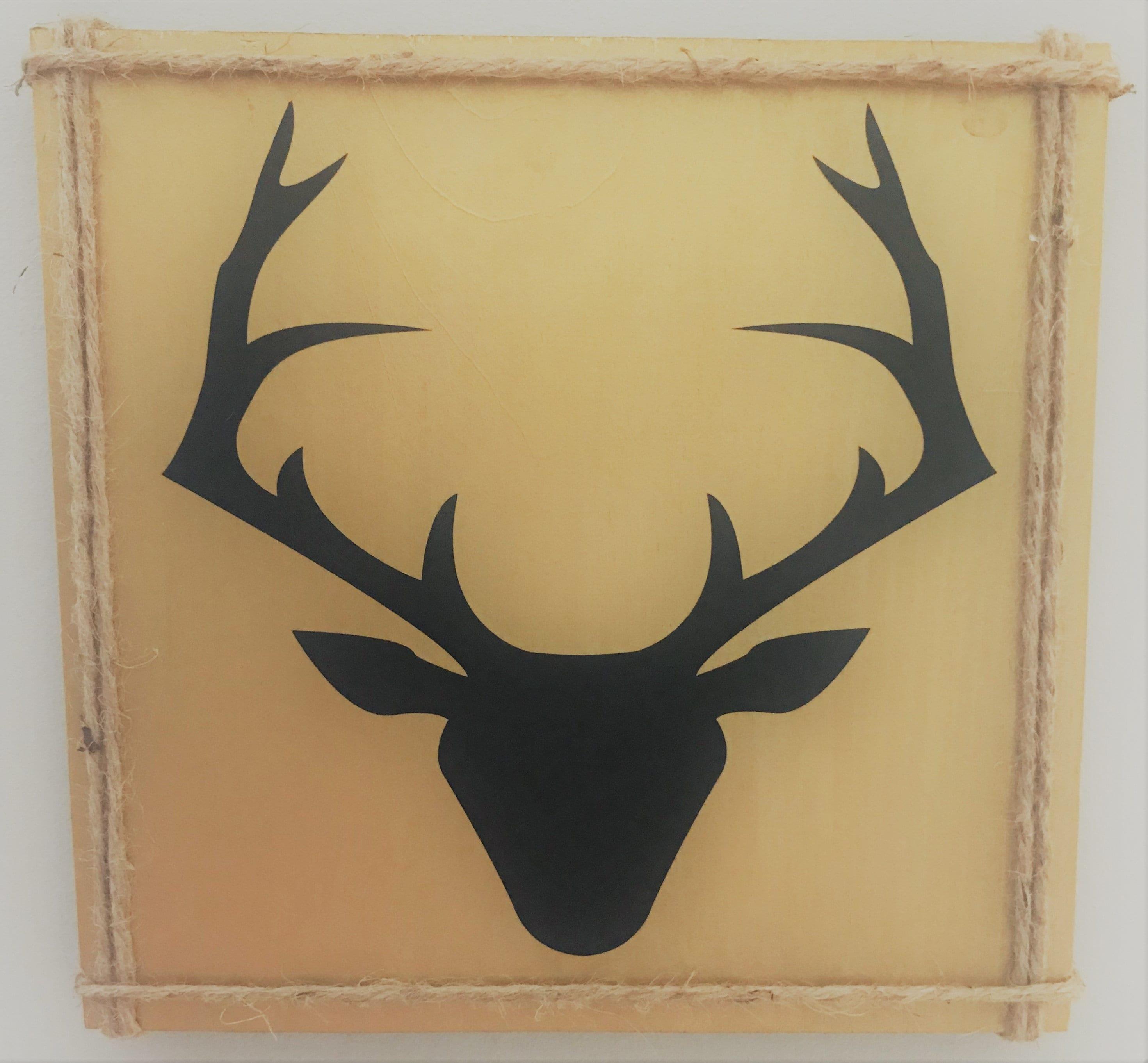 Deer Silhouette wall decor | Etsy