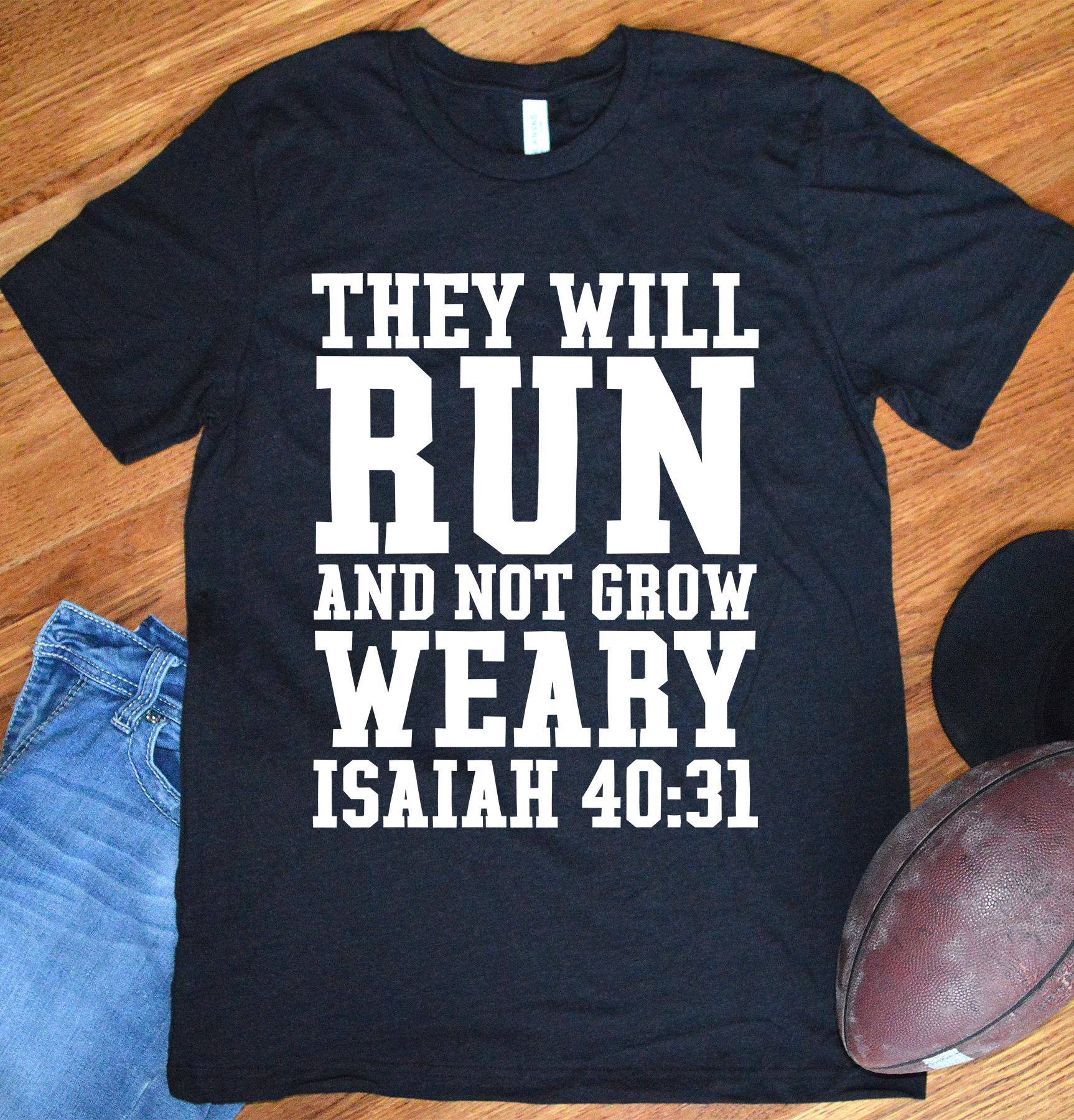 Christian Shirts For Men Isaiah 4031 They Will Run And Not Etsy
