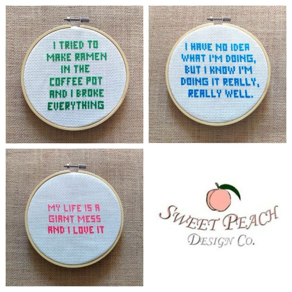 Parks & Rec Andy Dwyer Quotes #1, #2, #3 Cross Stitch Pattern Bundle