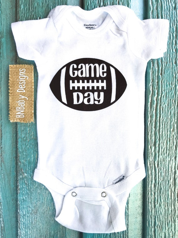 cd47801eb Football onesie football baby onesie boy football onesie | Etsy