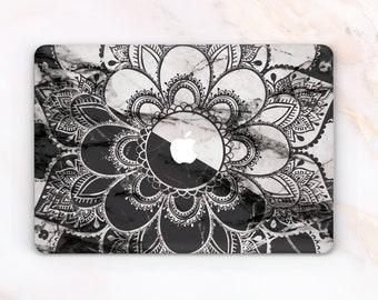 Mandala Macbook Case Bohemian Tapestry Mac Abstract Air 13 Marble Boho Pro Black And White New