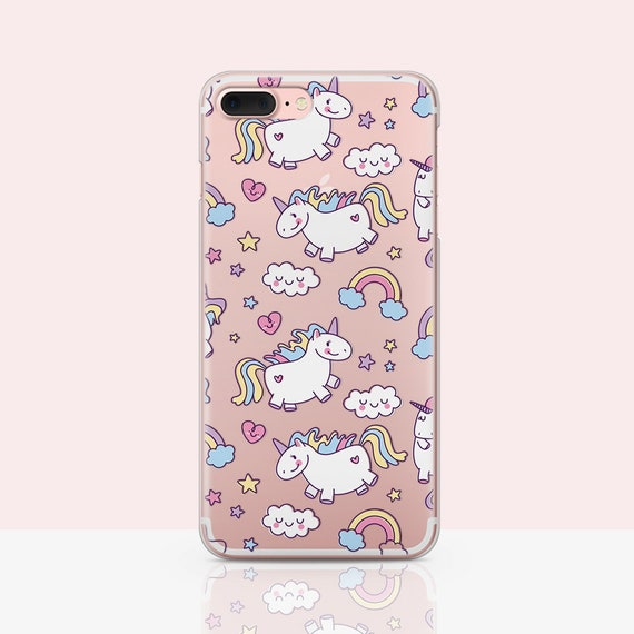 reputable site 2d96c 1ed87 Cute Unicorns iPhone Bumper Unicorn Lover Gift idea Magic Unicorns iPhone  Xs case Rainbow Horses iPhone 6 plus Case Cartoon Cover for Girls