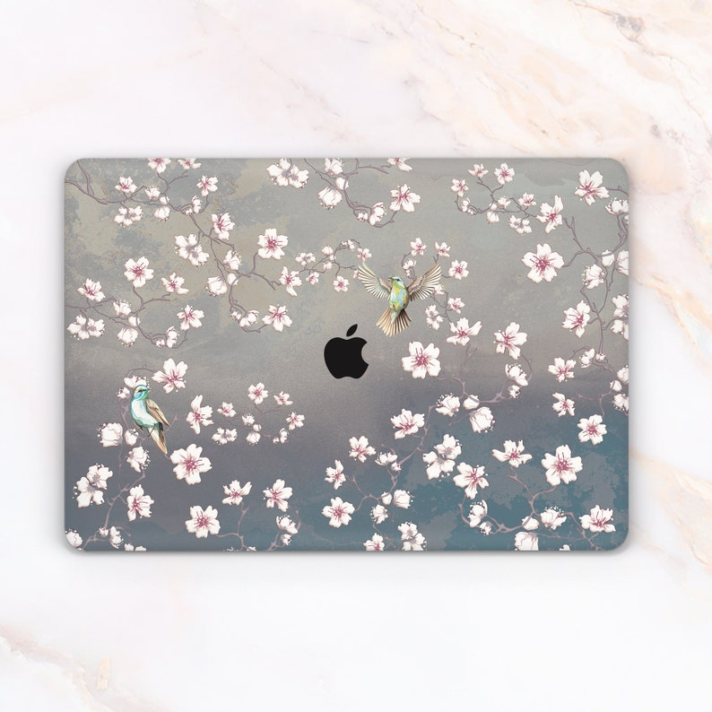 cheap for discount e1321 67399 Cute Macbook Air 13 Hard Shell Case Flowers Macbook Pro 13 a1708 2018 cover  for new macbook 15 Birds Floral Macbook Case A1466 A1706 12inch