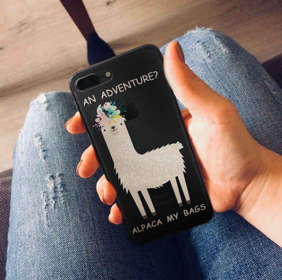 on sale 86141 7cfb6 Funny Llama Case iPhone Cartoon Case iPhone 6 Funny Alpaca Case iPhone 5  Llama Quote Case 6plus Case Alpaca my Bags Travel Gift idea SE case
