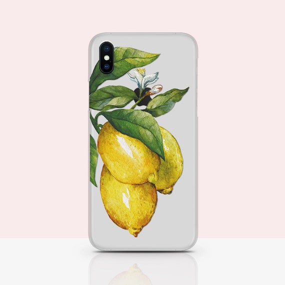 Lemons iPhone 11 Case Tropical iPhone 11 Pro Case Citrus iPhone 11 Pro Max Case Soft Silicone Cover Yellow Fruity For Vegetarian RL0165