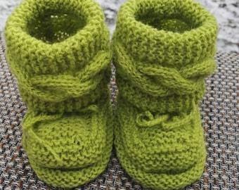 baby booties wool booties newborn booties  baby socks  newborn socks  green booties  green socks  girls booties  girls socks  boys booties