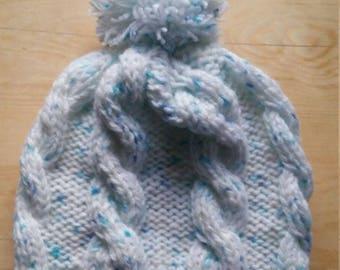 hat , winter hat , rainbow hat , white hat , warm hat , knitted hat