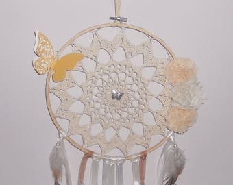 Dream catcher on embroidery hoop unique