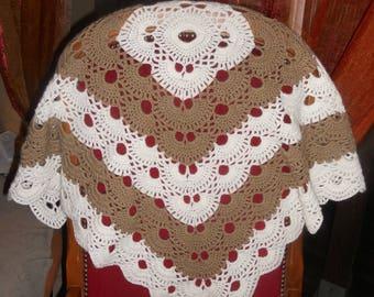 Baby blanket crocheted in acrylic yarn 80 cm x 80 cm