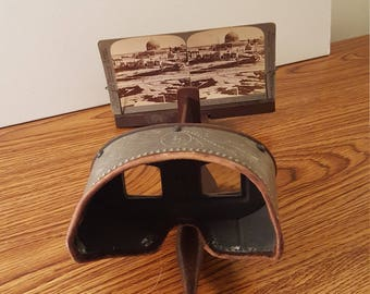 1896 - 1905 Monarch Stereoscope Viewer & Photos of Jerusalem, Vintage Photography, Steampunk, History