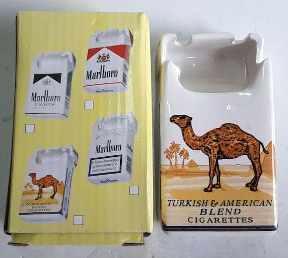 Camel Ceramic Ashtray Advertising Camel Cigarettes Pack Shape Etsy