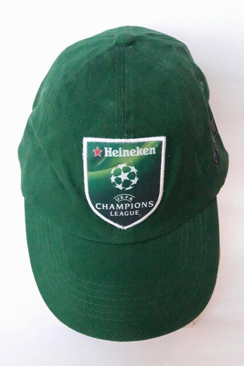 Heineken Beer Hat Cap UEFA Champions League Advertising Green  e510ff463f3