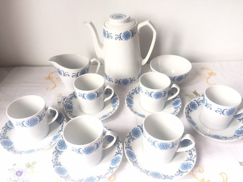 Alfred Meakin Coffee Set Old White Ironstone Pottery
