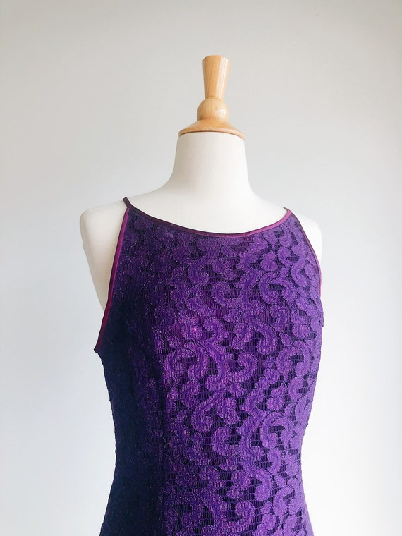 GUNNE SAX | Purple Lace Vintage 90's Formal Dress… - image 5