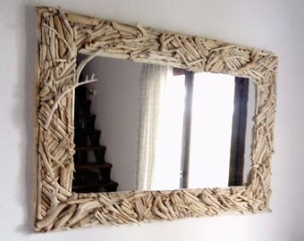 Captivating Driftwood Mirror,driftwood Wall Art,beach Decor,coastal,nautical,cottage,rustic,sculpture,entryway,modern,wood  Mirror,wall Hanging,lake